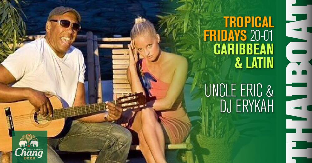"Tropical Fridays<br><span class=""event-time"">20.00 – 01.00</span>"