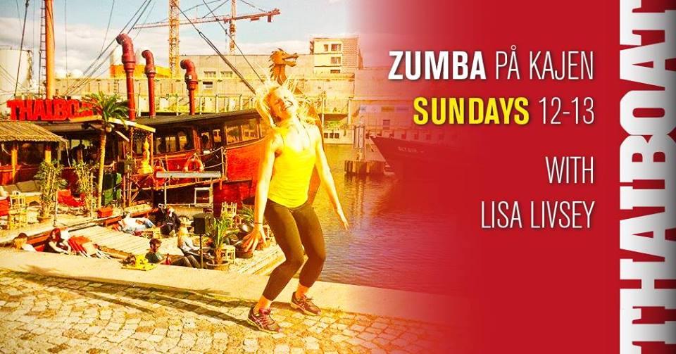 "Zumba på kajen<br><span class=""event-time"">12.00 – 13.00</span>"