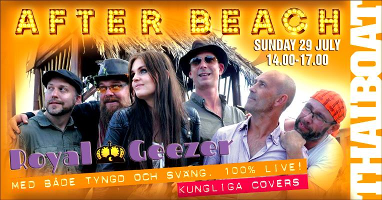 """AFTER BEACH with Royal Geezer<br><span class=""""event-time"""">14.00 – 17.00</span>"""