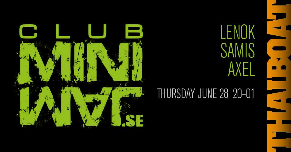 "Club Minimal<br><span class=""event-time"">20.00 – 01.00</span>"