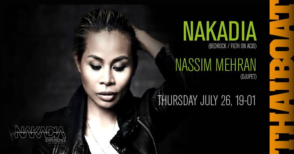 "Nakadia & Nassim Mehran<br><span class=""event-time"">19.00 – 01.00</span>"