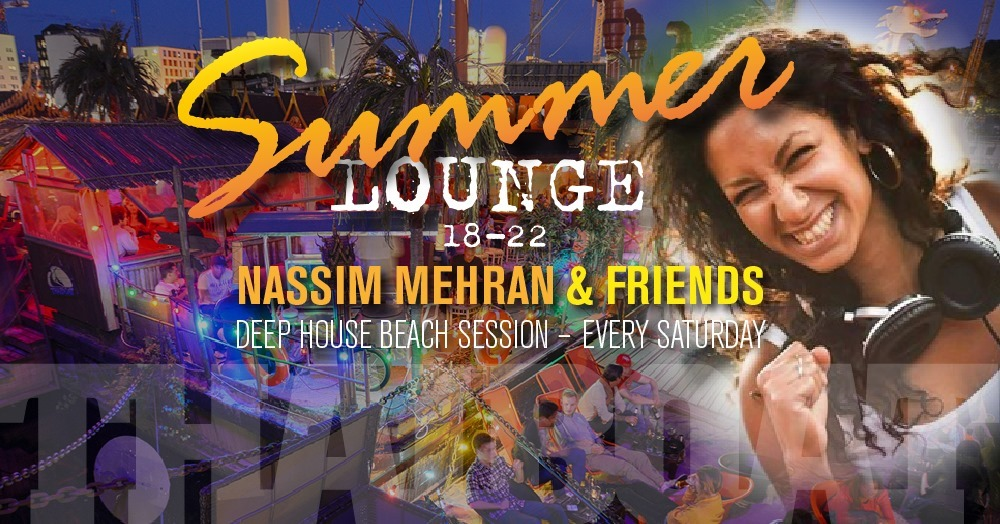 "Summer Lounge with Nassim Mehran & Friends<br><span class=""event-time"">10:e aug, kl 18.00 – 22.00</span>"