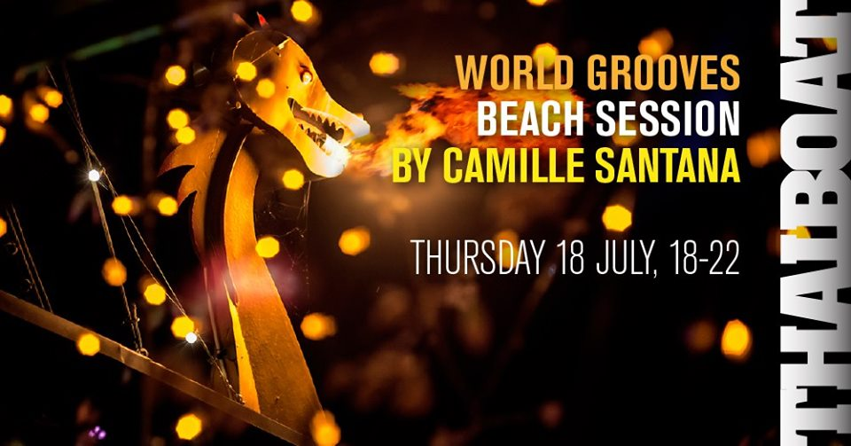 "Smooth World Grooves by Camille Santana<br><span class=""event-time"">18:e juli, kl 18.00 – 22.00</span>"